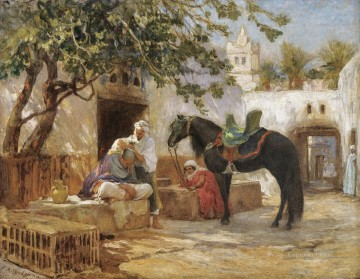 Arab Painting - THE BARBER Frederick Arthur Bridgman Arab