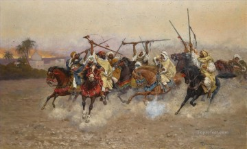 Arab Painting - THE SKIRMISH Enrico Coleman genre Araber