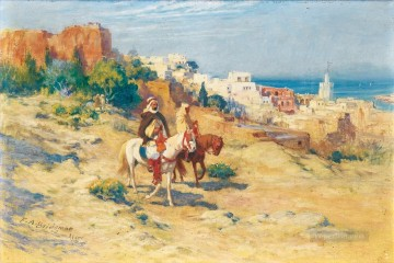 Arab Painting - TWO HORSEMEN IN ALGIERS Frederick Arthur Bridgman Arab
