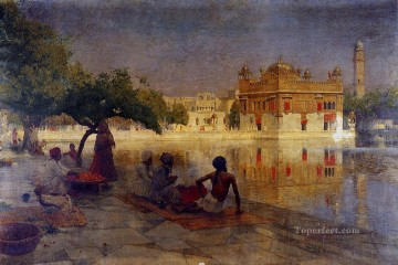 The Golden Temple Amritsar Arabian Edwin Lord Weeks Oil Paintings