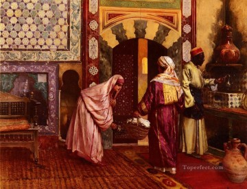 The Hammam Arabian painter Rudolf Ernst Oil Paintings