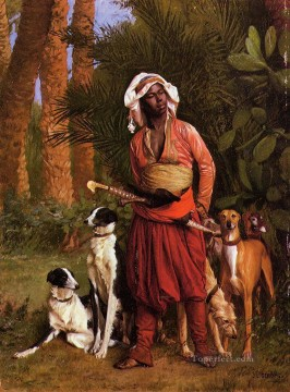 Arab Painting - The Negro Master of the Hounds Arab Jean Leon Gerome