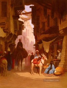 Arab Canvas - The Souk Arabian Orientalist Charles Theodore Frere