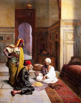 The fortune teller Ludwig Deutsch Orientalism Araber Oil Paintings