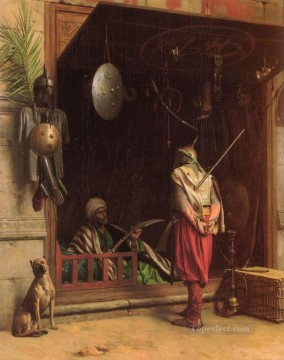 Un Marchand Darmes Au Caire Arab Jean Leon Gerome Oil Paintings
