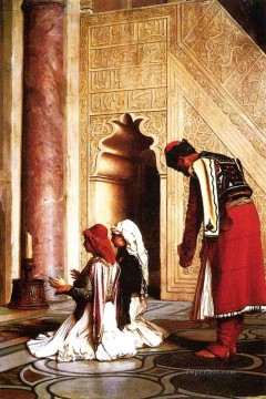 Arab Painting - Young Greeks at the Mosque Jean Leon Gerome Arabs