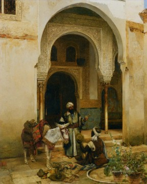 Arab Canvas - an arab merchant by clement pujol de guastavino