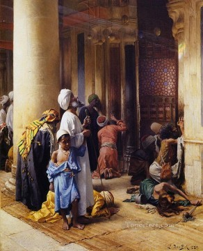 praying Ludwig Deutsch Orientalism Araber Oil Paintings