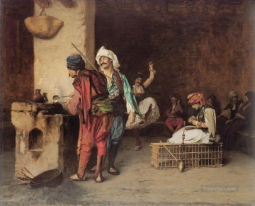 A Cafe in Cairo Arab Jean Leon Gerome Oil Paintings
