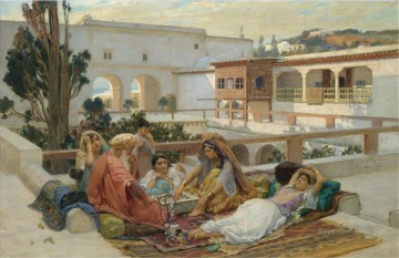 Arab Painting - AN AFTERNOONS AMUSEMENT Frederick Arthur Bridgman Arab