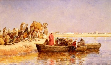 Arab Painting - Along The Nile Arabian Edwin Lord Weeks