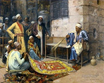 Der Teppichverkaufer Carpet Seller Alphons Leopold Mielich Araber Oil Paintings