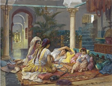 Arab Painting - IN THE HAREM Frederick Arthur Bridgman Arab