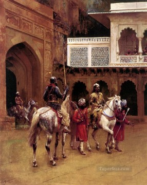 Arab Painting - Indian Prince Palace Of Agra Arabian Edwin Lord Weeks