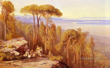 Marathon landscape Edward Lear Arabs Oil Paintings