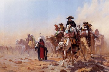 Napoleon and His General Staff Arabian Jean Leon Gerome Oil Paintings