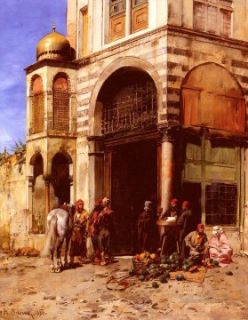 Fruit Painting - Pasini Albert The Fruitmarket classic Arab