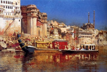 The Barge Of The Maharaja Of Benares Arabian Edwin Lord Weeks Oil Paintings
