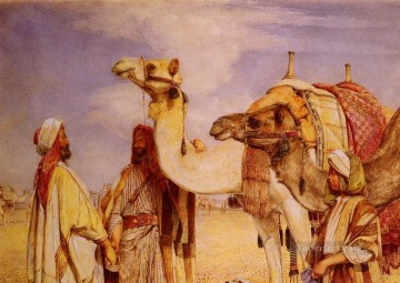 The Greeting In the Desert Egypt Oriental John Frederick Lewis Arabs Oil Paintings