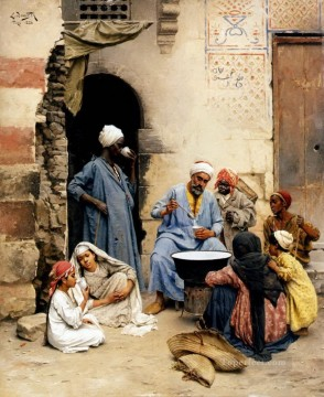 Arab Painting - The Sahleb Vendor Cairo Ludwig Deutsch Orientalism Araber
