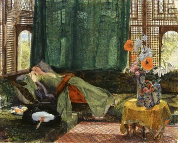 The Siesta John Frederick Lewis Arab Oil Paintings