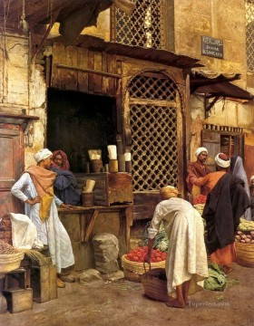 bazar Ludwig Deutsch Orientalism Araber Oil Paintings