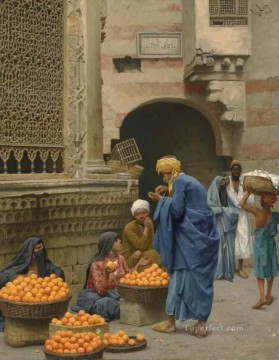 orange sellers Ludwig Deutsch Orientalism Araber Oil Paintings