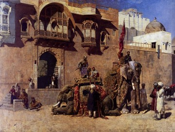 A Rajah Of Jodhpur Arabian Edwin Lord Weeks Oil Paintings