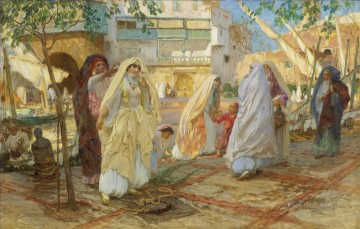APRES LA FETE PORT D ALGER Frederick Arthur Bridgman Arab Oil Paintings