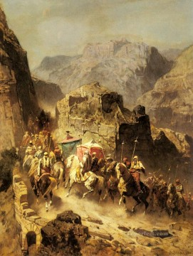 An Arab Caravan Arabian Alberto Pasini Oil Paintings