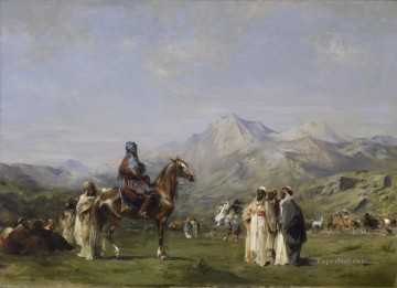 Walter Works - Eugene Fromentin An Encampment in the Atlas Mountains Walters Arabs