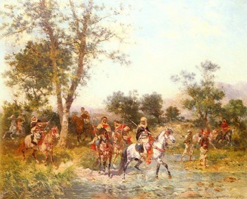 Arab Canvas - Georges Washington Arab Riders at the Oasis