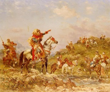 Arab Canvas - Georges Washington Arab Warriors on Horseback