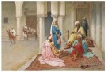 Giulio Rosati An afternoon game of backgammon Arabs