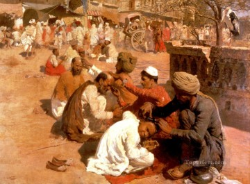Arab Painting - Indian Barbers Saharanpore Arabian Edwin Lord Weeks