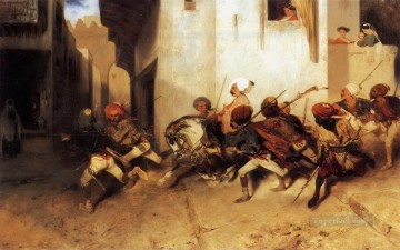 La pattuglia turca Alexandre Gabriel Decamps Araber Oil Paintings
