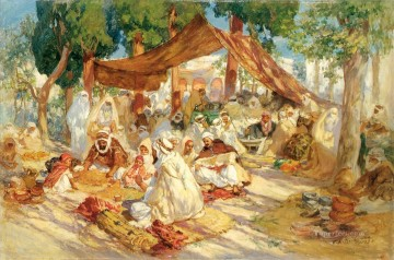 MARKET SCENE Frederick Arthur Bridgman Arab Oil Paintings