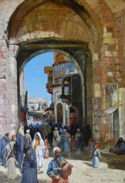 Max Rabes Arab bazaar Oil Paintings