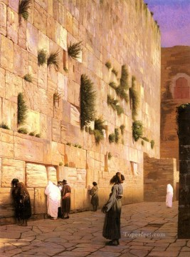 Artworks in 150 Subjects Painting - Solomons Wall Jerusalem Arab Jean Leon Gerome