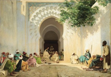 UNE AUDIENCE DU PACHA A TANGER Georges Bretegnier Araber Oil Paintings