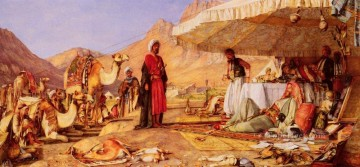 Arab Painting - A Frank Encampment In The Desert Of Mount Sinai Oriental John Frederick Lewis Arabs