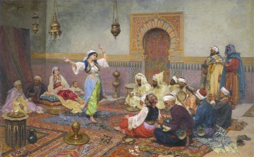 Arab party dancer Giulio Rosati Oil Paintings