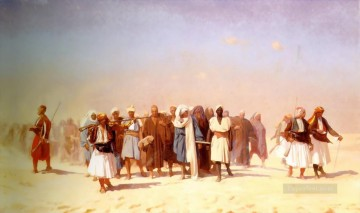 cross - Egyptian Recruits crossing the Desert Arab Jean Leon Gerome