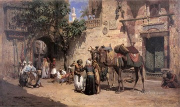 Arab Painting - IN THE COURTYARD Frederick Arthur Bridgman Arab