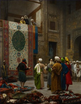 The Carpet Merchant Jean Leon Gerome Arabs Oil Paintings