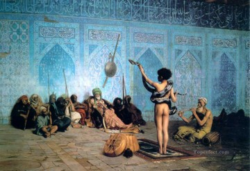 Arab Painting - The Serpent Charmer Arab Jean Leon Gerome