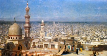 View Of Cairo Arab Jean Leon Gerome Oil Paintings