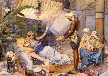 F Fasce in the harem Arabs Oil Paintings