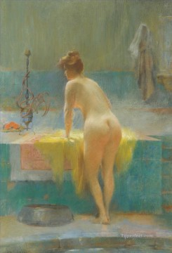 Asian Painting - JEUNE FEMME AU BAIN Sarkis Diranian Asian