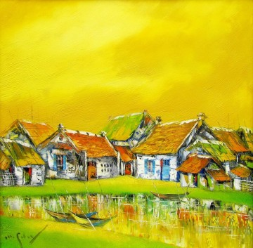 My hometown Vietnamese Asian Oil Paintings